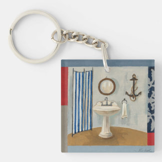 nautical themed bathroom keychain