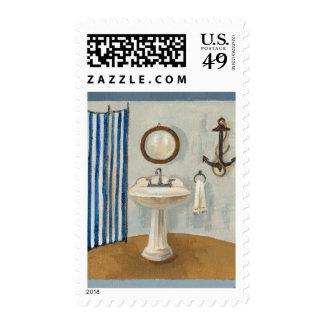 Nautical Themed Bathroom Postage