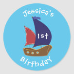 Nautical Themed Birthday Sticker- Bday Labels