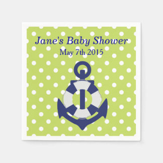 Nautical Themed Boy Baby Shower Napkins