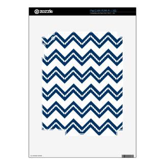 Nautical Themed Chevron Print iPad 2 Decal