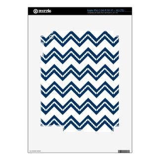 Nautical Themed Chevron Print iPad 3 Decals