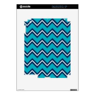 Nautical Themed Chevron Print Teal iPad 2 Skins