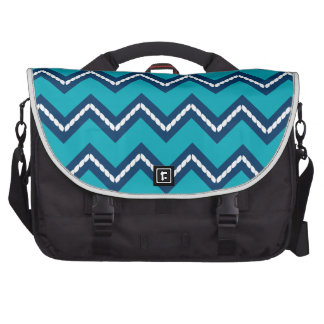 Nautical Themed Chevron Print Teal Bag For Laptop