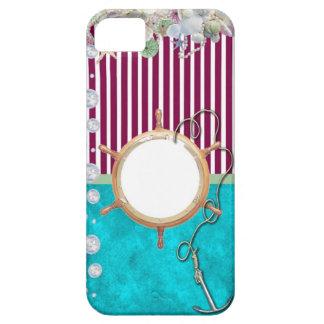 Nautical-themed, customizable photo or monogram iPhone SE/5/5s case