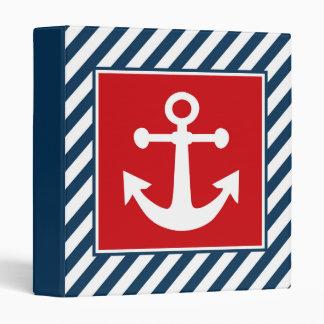 Nautical themed design 3 ring binder