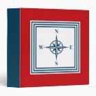 Nautical themed design 3 ring binder