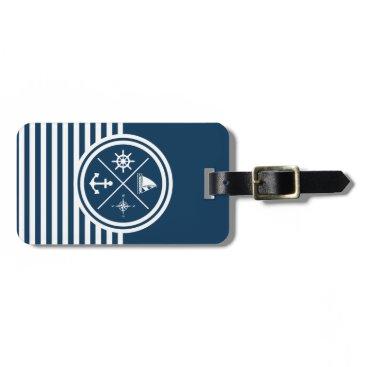 Nautical themed design bag tag