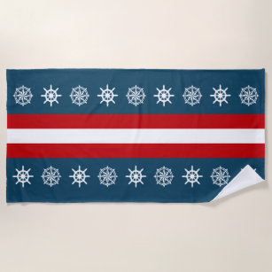 Nautical Themed Design Beach Towel