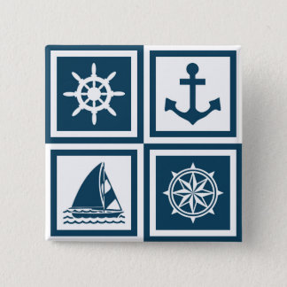 Nautical themed design button