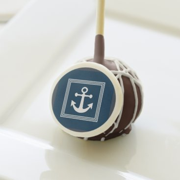 Beach Themed Nautical themed design cake pops