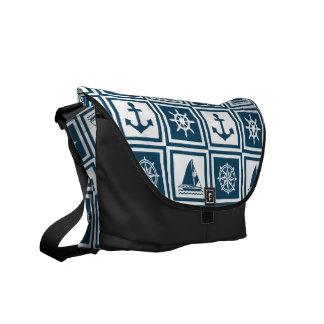 Nautical themed design courier bag