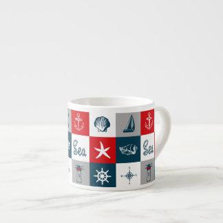 Nautical themed design espresso cup