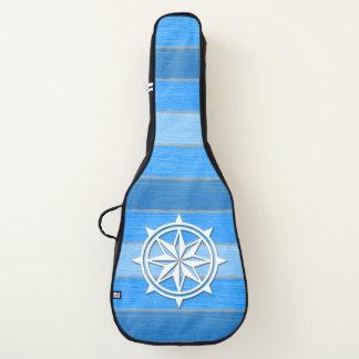 Nautical themed design guitar case