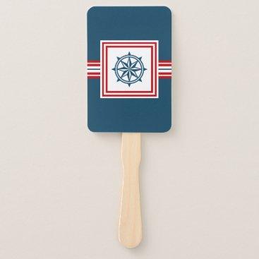 Nautical themed design hand fan