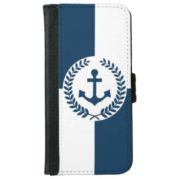 Nautical themed design iPhone 6/6s wallet case