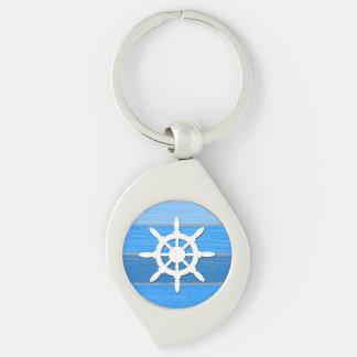 Nautical themed design keychain
