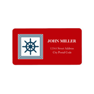 Nautical themed design label