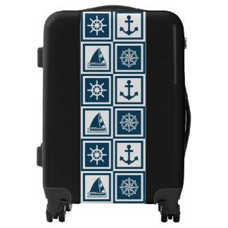 Nautical themed design luggage