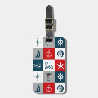 Nautical themed design luggage tag