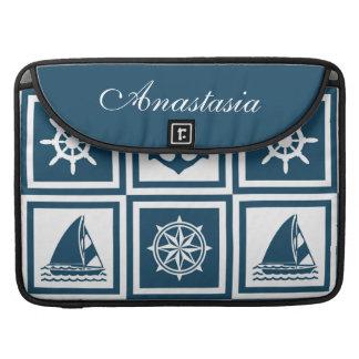 Nautical themed design MacBook pro sleeve