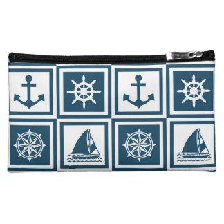 Nautical themed design makeup bag