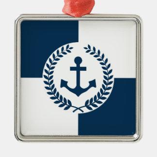 Nautical themed design metal ornament