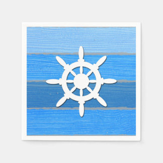 Nautical themed design napkin