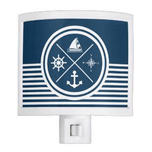 nautical themed night light ocean nautical themed design night light anchor boat wheel night lights zazzle