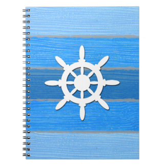 Nautical themed design notebook