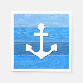 Nautical themed design paper napkin
