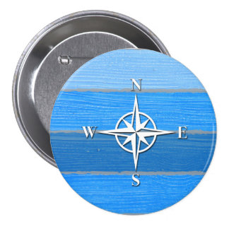 Nautical themed design pinback button
