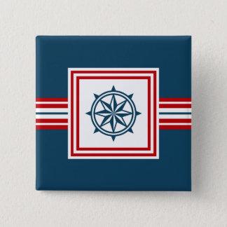 Nautical themed design pinback button