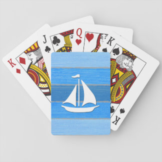 Nautical themed design playing cards
