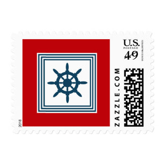 Nautical themed design postage