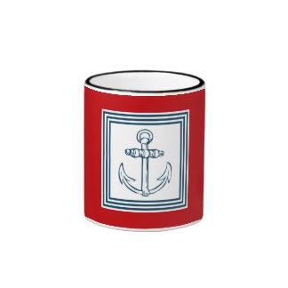Nautical themed design ringer mug