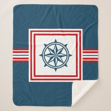 Beach Themed Nautical themed design sherpa blanket