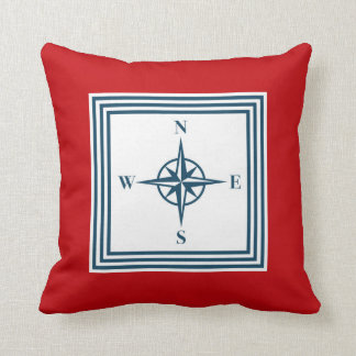 Nautical themed design throw pillow