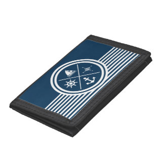 Nautical themed design trifold wallet