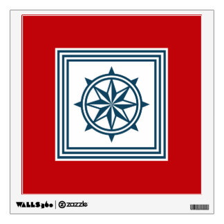 Nautical themed design wall decal