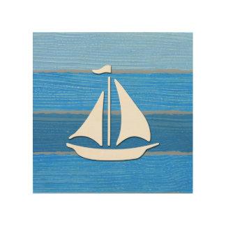 Nautical themed design wood print