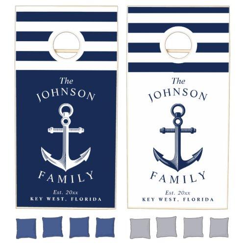 Nautical Themed Family Cornhole Set