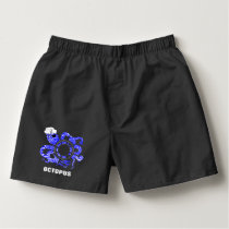 Nautical Themed Funny Octopus Sailor Cute Whimsy Boxers