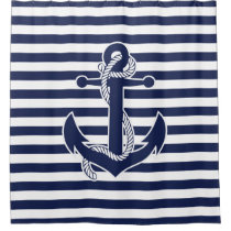 Nautical Themed Gifts Shower Curtain Anchor