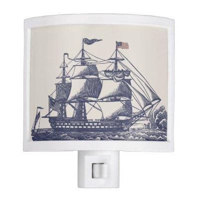 nautical themed night light cowrie seahorse american flag night light zazzlecom