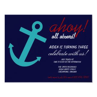 Nautical Themed Party Invitation