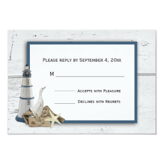 Nautical Themed RSVP Card
