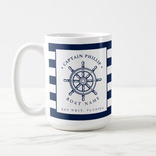 Nautical Themed Sailboat Captain Coffee Mug