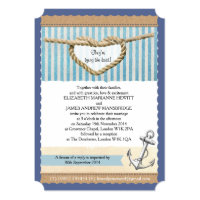 Nautical Themed Wedding Invitation