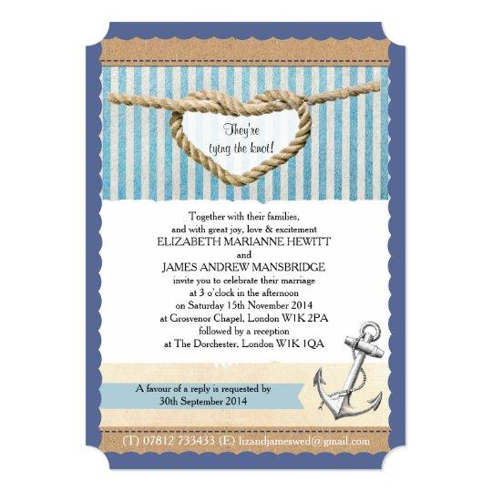 Nautical Themed Wedding Invitations: Nautical Themed Wedding Invitation